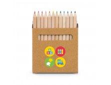 Caixa 12 mini lápis de cor
