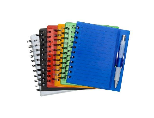 Bloco de anotações com caneta