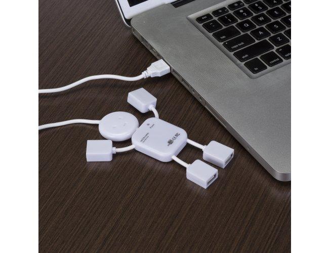 Hub Boneco com 4 Entradas USB