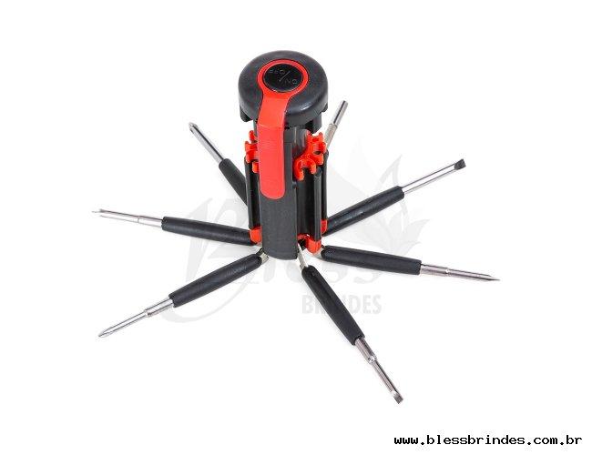 Kit ferramenta 7 chaves e lanterna